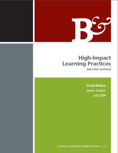 High-Impact Learning Practices