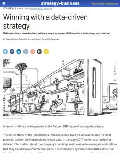 Winning with a Data-Driven Strategy